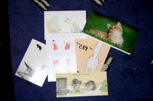 cat related birthday cards