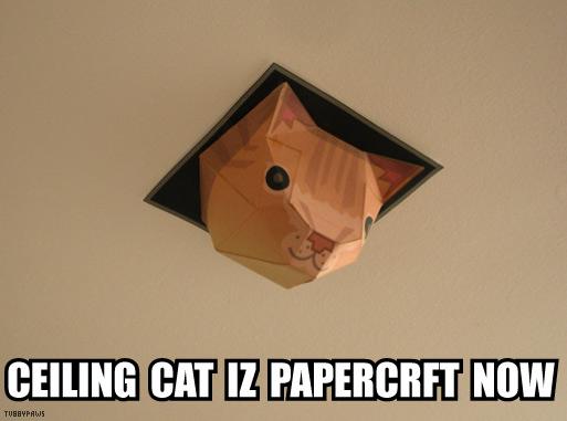 Papercraft Ceiling Cat